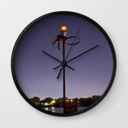 Evening On The Pier Wall Clock
