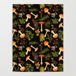Vintage & Shabby Chic - Night Forest Garden Poster
