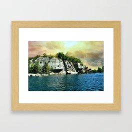 Golden Sky Over the Mountain - Mohonk Framed Art Print
