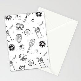 Modern Juice Pattern Stationery Cards