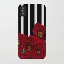 Poppy Stripes - Red iPhone Case