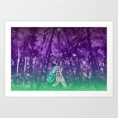 Yes, you can go wild now Art Print