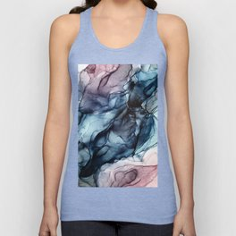 Blush and Darkness Abstract Paintings Unisex Tank Top