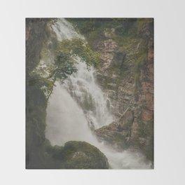 The Waterfalls of Nepal 001 Throw Blanket