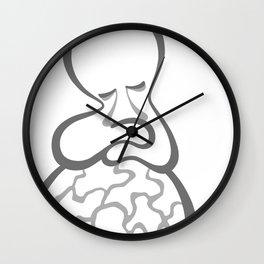 Kintsugi Womb Wall Clock