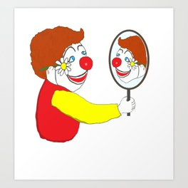 The Happy Clown Art Print