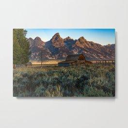 Wyoming - Moulton Barn and Grand Tetons Metal Print