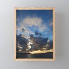 Facing the storm Framed Mini Art Print