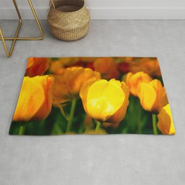 Sunlit Yellow Tulips Rug