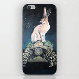 Midnight Tortoise and Hare iPhone Skin