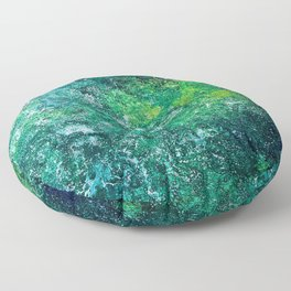 Color Fields: Mermaid Grotto Floor Pillow