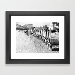 Long Beach Surf Contest 1930s Framed Art Print