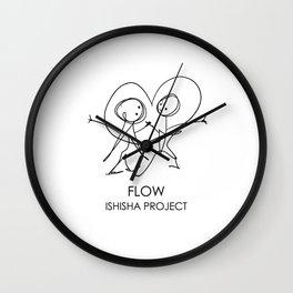 FLOW by ISHISHA PROJECT Wall Clock