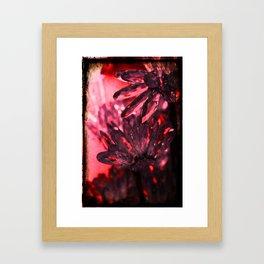 BLING RED FLOWER Framed Art Print