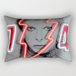 bowie neon 4 Rectangular Pillow