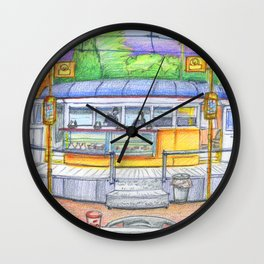banana cafe Wall Clock