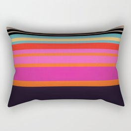 Sunset Stripes Rectangular Pillow