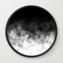 Ombre Black White Minimal Wall Clock
