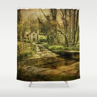 ford Shower Curtains featuring Hunworth Ford by J Coe Photography