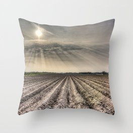 The Angel Light Farm Throw Pillow