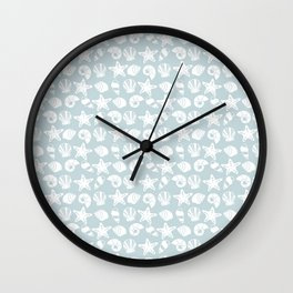 Vintage Sea Shells Wall Clock