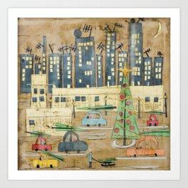 Driving Home for Christmas Art Print