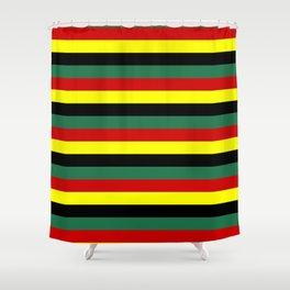ghana flag stripes Shower Curtain