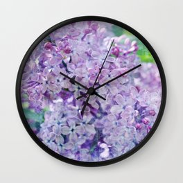 Yesterday's Lilac Wall Clock