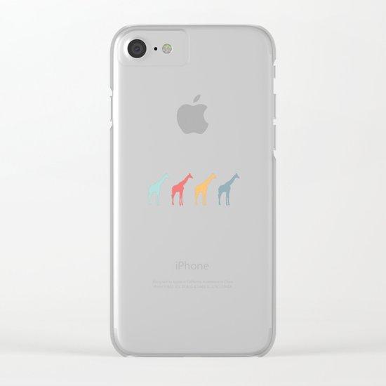 Giraffe Pattern Clear iPhone Case