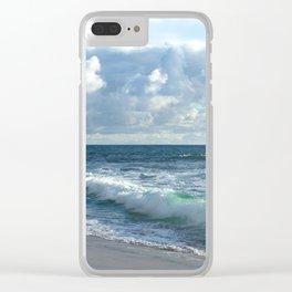 Sea Green Clear iPhone Case