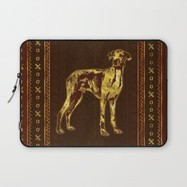 Azawakh Sighthound on African Pattern Laptop Sleeve