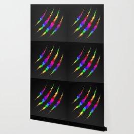 Rainbow Carbon Torn Wallpaper