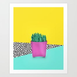 Cactus Fries 90s Style Art Print