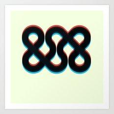 3d && Art Print