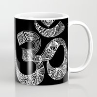 om Mugs featuring OM by Maioriz Home