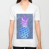 pineapple V-neck T-shirts featuring Pineapple  by Saundra Myles
