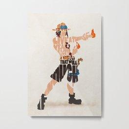 The Fire Fist Metal Print