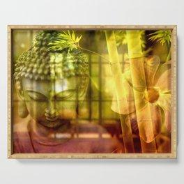 Zen & Spiritual Relaxation - Buddha & Bamboo Serving Tray