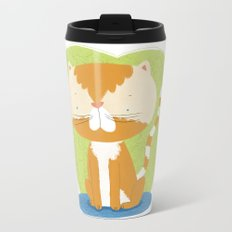 Tommy The Cat Metal Travel Mug