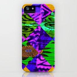 Mardi Gras African Print iPhone Case