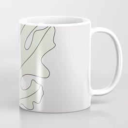 Dusty Miller Leaf Illustration Coffee Mug