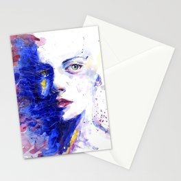Colourful painting of women Stationery Cards