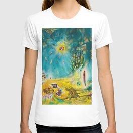 The Earth Is a Man landscape by R. Matta T-shirt