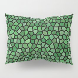 Jewel Tone Mosaic in Green Pillow Sham