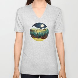Autumn Moon Unisex V-Neck