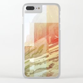 Pixel view over the valley Clear iPhone Case