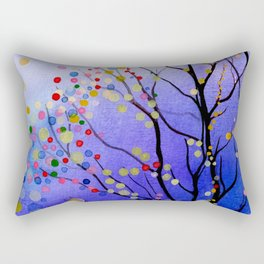 sparkling winter night sky Rectangular Pillow