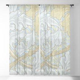 St James William Morris Pattern Sheer Curtain