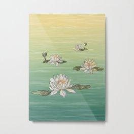 Drifting Water Lilies Metal Print