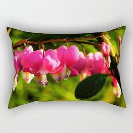 Pink Bleeding Hearts After an Evening Sun Shower Rectangular Pillow